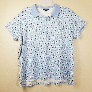 Lands' End Floral Polo